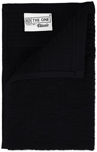 T1-30 Classic guest towel - Black - 30 x 50 cm