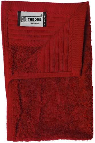T1-30 Classic guest towel - Burgundy - 30 x 50 cm