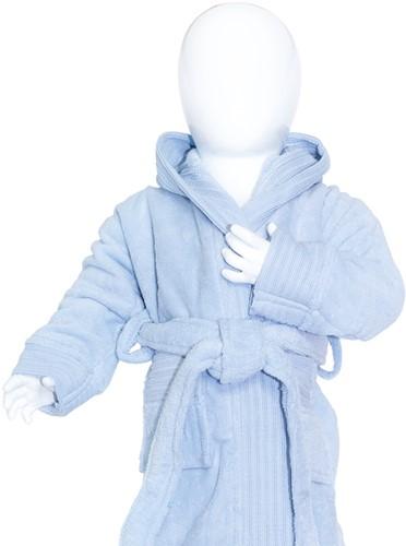 T1-BABYBATH Baby bathrobe - Light blue - 80/92