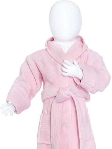 T1-BABYBATH Baby bathrobe - Light pink - 80/92