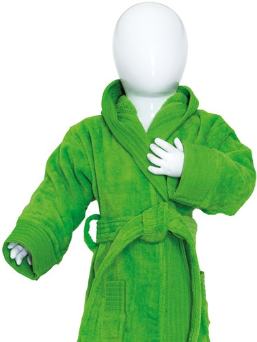 T1-BABYBATH Baby bathrobe - Lime green - 68/74