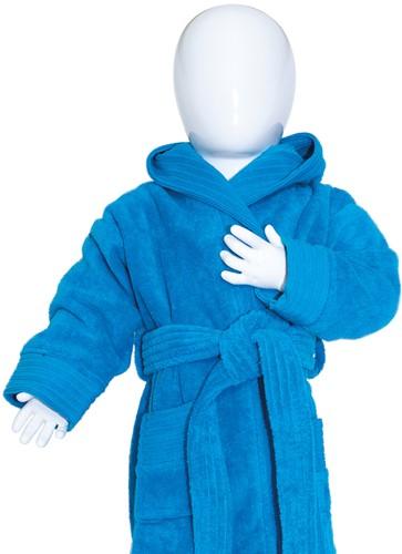 T1-BABYBATH Baby bathrobe - Turquoise - 68/74