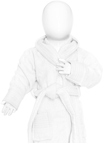 T1-BABYBATH Baby bathrobe - White - 98/110
