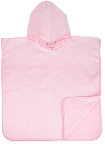 T1-BABYPONCHO Baby poncho  - Light pink - 55 x 55 cm