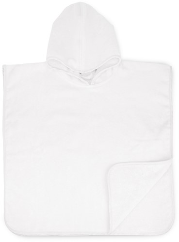 T1-BABYPONCHO Baby poncho  - White - 55 x 55 cm