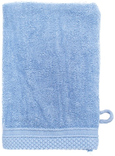 T1-BAMWASH Bamboo washcloth - Aqua azure - 16 x 21 cm