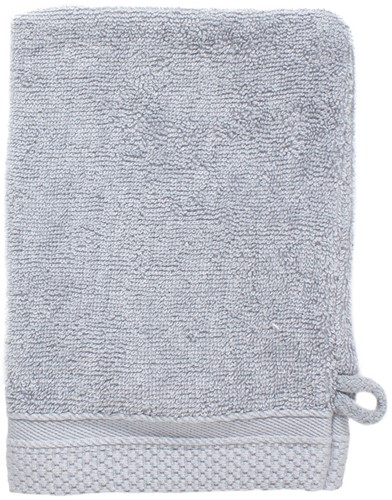 T1-BAMWASH Bamboo washcloth - Light grey - 16 x 21 cm