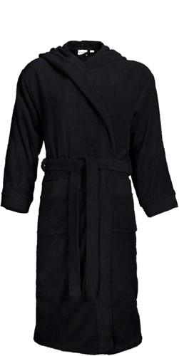 T1-BH Bathrobe hooded - Black - 2XL/3XL