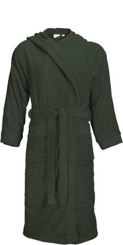 T1-BH Bathrobe hooded - Dark green - L/XL