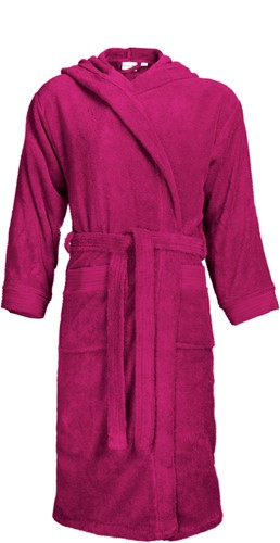 T1-BH Bathrobe hooded - Magenta - S/M