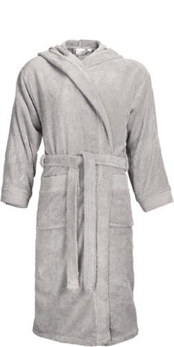 T1-BH Bathrobe hooded - Silver grey - L/XL