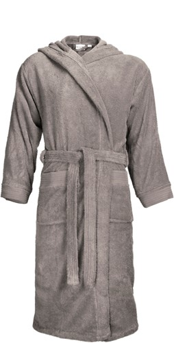 T1-BH Bathrobe hooded - Taupe - S/M