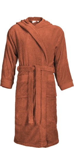 T1-BH Bathrobe hooded - Terra spice - 2XL/3XL