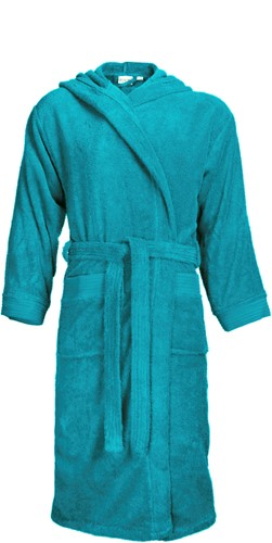 T1-BH Bathrobe hooded - Turquoise - 2XL/3XL