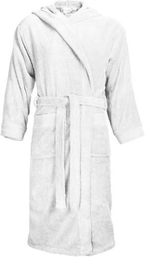T1-BH Bathrobe hooded - White - 2XL/3XL