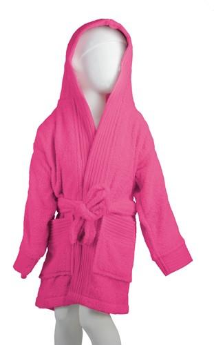 T1-BKIDS Kids bathrobe - Magenta - 116/128