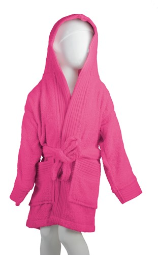 T1-BKIDS Kids bathrobe - Magenta - 135/150