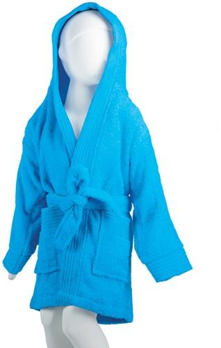 T1-BKIDS Kids bathrobe - Turquoise - 116/128