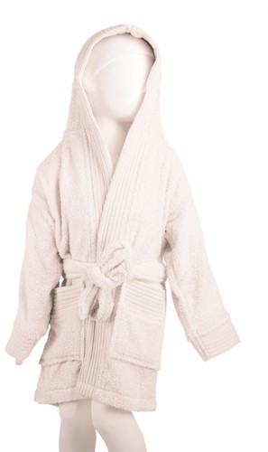 T1-BKIDS Kids bathrobe - White - 116/128
