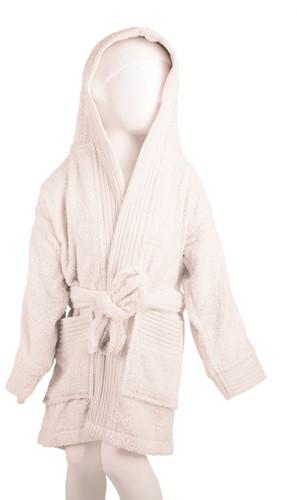 T1-BKIDS Kids bathrobe - White - 135/150