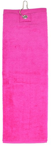 T1-GOLF Golf towel - Magenta - 40 x 50 cm