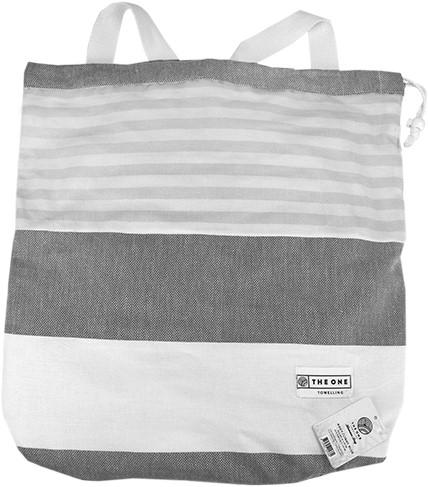 T1-HAMBAG Hamam bag - Grey/dark grey - 90 x 170 cm