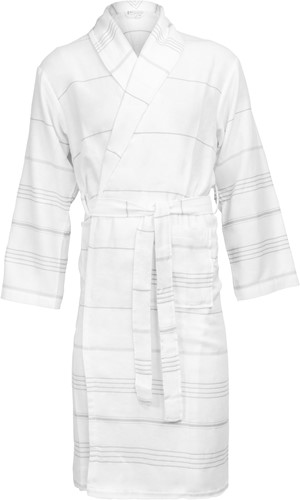 T1-HAMBATH Hamam bathrobe - White/grey - 2XL/3XL