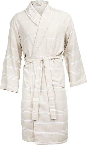 T1-HAMBATH Hamam bathrobe - Beige/white - S/M
