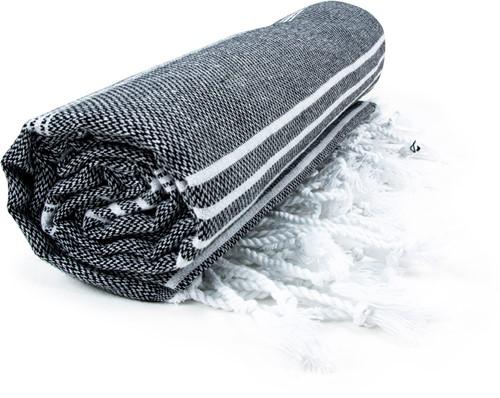 T1-HAMSULTAN Hamam sultan towel - Black/white - 100 x 180 cm