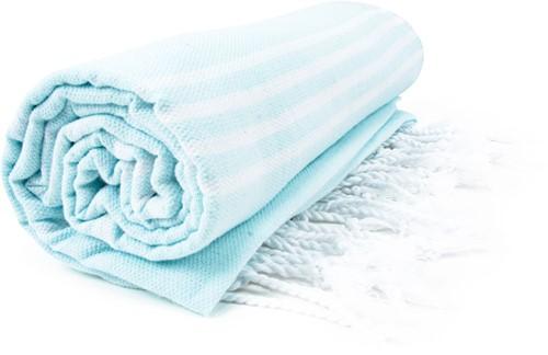 T1-HAMSULTAN Hamam sultan towel - Mint/white - 100 x 180 cm