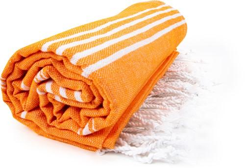 T1-HAMSULTAN Hamam sultan towel - Orange/white - 100 x 180 cm