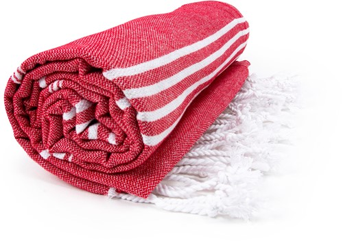 T1-HAMSULTAN Hamam sultan towel - Red/white - 100 x 180 cm