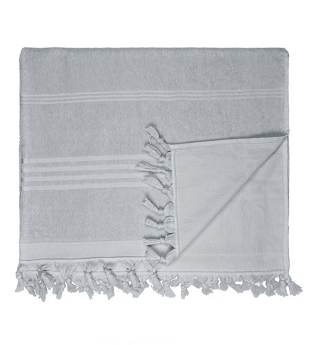 T1-HAMTERRY Hamam terry towel - Dark grey - 100 x 165 cm