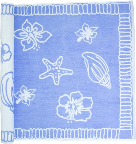 T1-HAWAII Beach towel hawaii - Purple/white - 90 x 190 cm