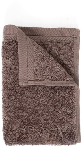 T1-ORG30 Organic guest towel - Taupe - 30 x 50 cm