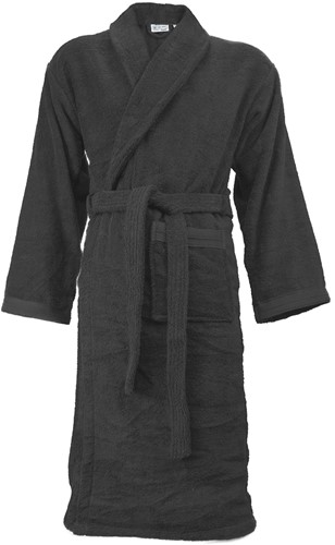 T1-ORGB Organic bathrobe - Anthracite - L/XL