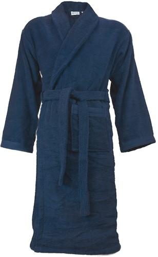 T1-ORGB Organic bathrobe - Navy blue - L/XL