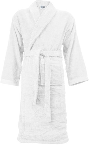 T1-ORGB Organic bathrobe - White  - 2XL/3XL