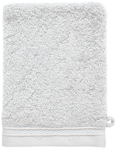 T1-ORGWASH Organic washcloth - Silver grey - 16 x 21 cm
