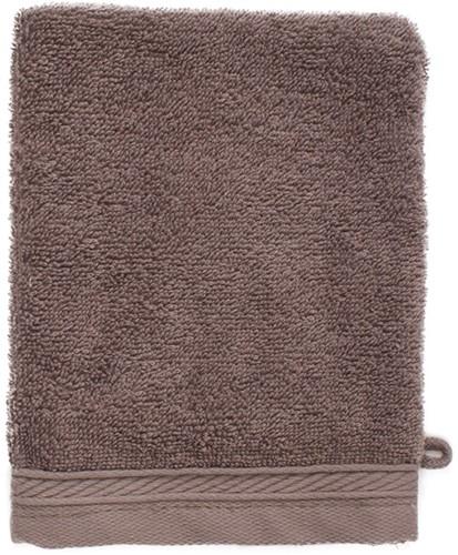 T1-ORGWASH Organic washcloth - Taupe - 16 x 21 cm