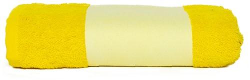 T1-PRINT50 Sublimation towel - Yellow - 50 x 100 cm
