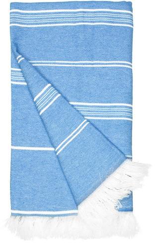 T1-RHAM Recycled hamam towel - Cobalt blue - 100 x 180 cm