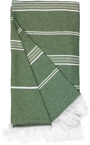 T1-RHAM Recycled hamam towel - Olive green - 100 x 180 cm
