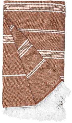 T1-RHAM Recycled hamam towel - Rust orange - 100 x 180 cm