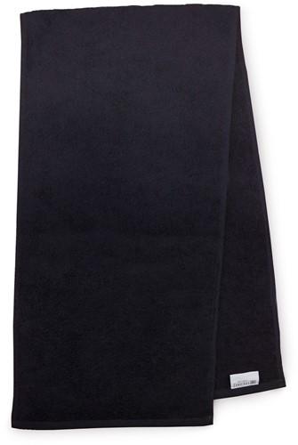 T1-SPORT Sport towel - Black - 30 x 130 cm