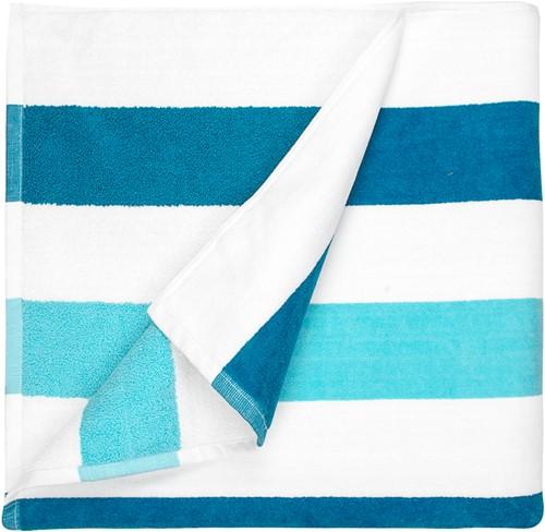 T1-STRIPE Beach towel stripe - Petrol/mint - 90 x 190cm