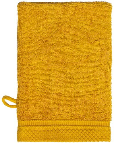 T1-ULTRAWASH Ultra deluxe washcloth - Honey yellow - 16 x 21 cm