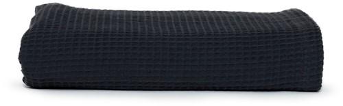 T1-WAFFLET Waffle towel - Anthracite - 100 x 150 cm