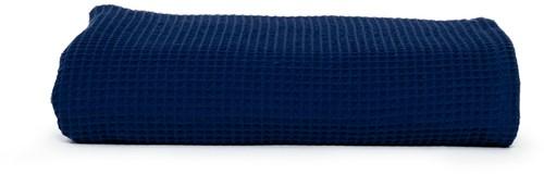 T1-WAFFLET Waffle towel - Navy blue - 100 x 150 cm