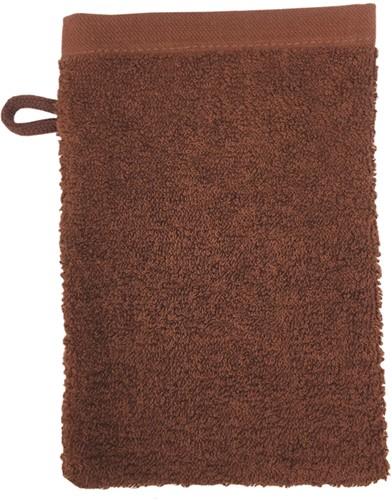 T1-WASH Washcloth - Brown - 16 x 21 cm
